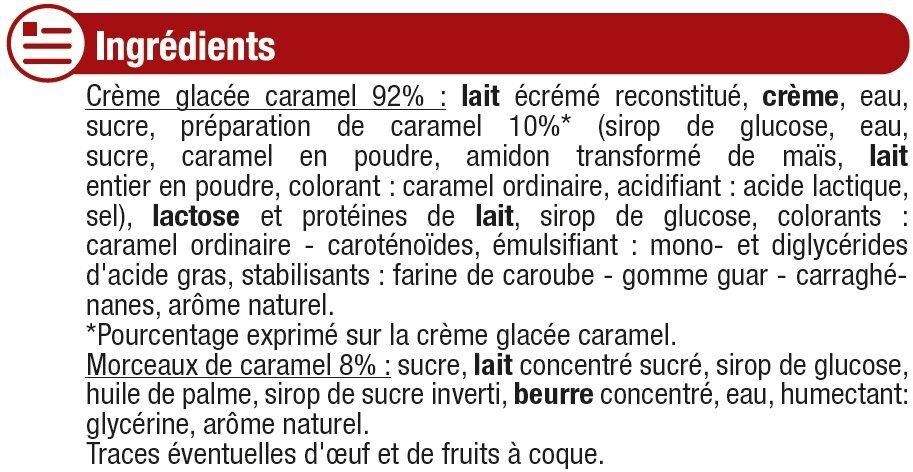 Crème glacée caramel - Ingrédients