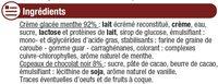 Crème glacée menthe chocolat - Ingredients