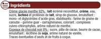 Crème glacée menthe chocolat - Ingrediënten - fr