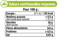 Sorbet pomme - Nutrition facts