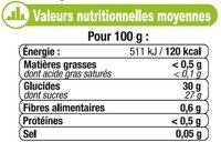Sorbet pomme - Informations nutritionnelles - fr