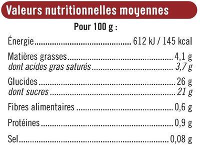 Bâtonnets envie de glace vanille marbrée sorbet framboise - Nutrition facts