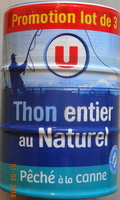 Thon entier, au naturel, pêché à la canne Promo lot de 3 - Product