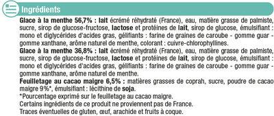 Feuilleté glacé menthe chocolat - Ingrédients - fr