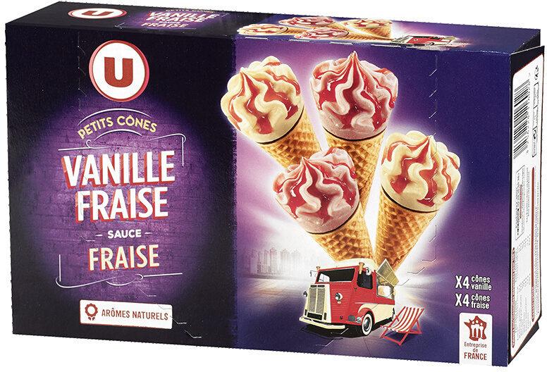 Petits cônes vanille fraise - Product - fr