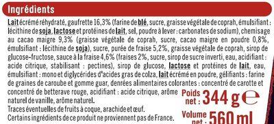 Petits cônes vanille fraise - Ingredients - fr