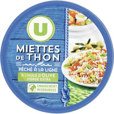 Miettes de thon huile olive peche ligne - Product - fr