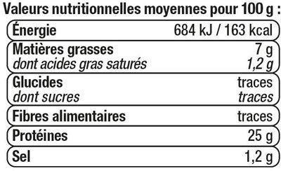 Thon entier à l'huile d'olive pêche ligne - Informazioni nutrizionali - fr