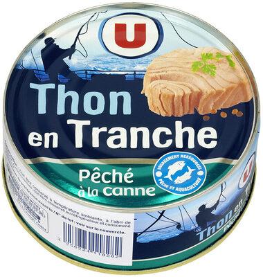 Thon en tranche au naturel pêché canne - Produit