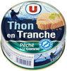 Thon en tranche au naturel pêché à la ligne - Produit