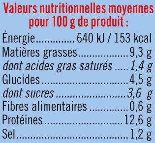 Miettes thon à la tomate pêché ligne - Voedingswaarden - fr