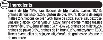 Pain de mie gourmand céréales - Ingrédients - fr
