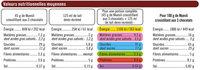 Muesli croustillant au chocolat au lait - Nutrition facts