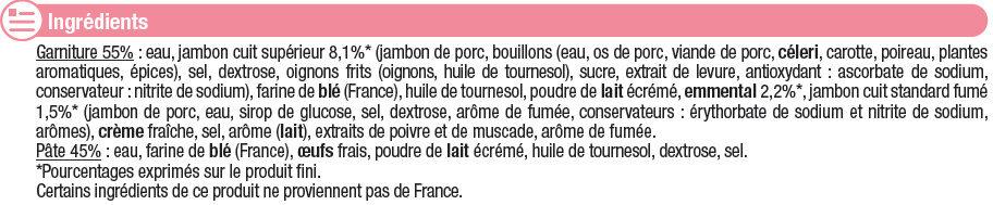20 Crêpes jambon fromage - Ingrédients - fr