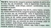 Tourte Champignons - surgelée 500 g - Inhaltsstoffe - fr