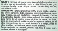 Tourte Champignons - surgelée 500 g - Ingredients