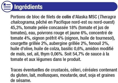 Colin d'Alaska à la provençale - Ingredients
