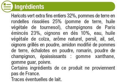 Poêlée champêtre aux légumes, pommes de terre et champignons de Paris - Ingrediënten