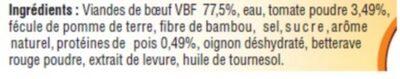Viande hachée bolognaise, 20% MAT.GR., - Ingredients