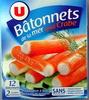 Bâtonnets de la mer goût Crabe (12 bâtonnets) - Produit
