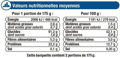 Tagliatelles aux oeufs frais - Informations nutritionnelles - fr