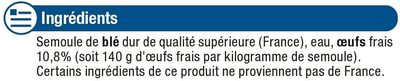 Tagliatelles aux oeufs frais - Ingredienti - fr