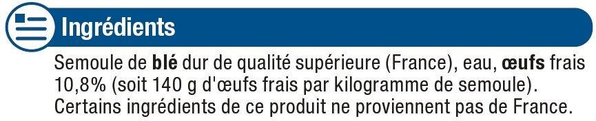 Tagliatelles aux oeufs frais - Ingrédients - fr
