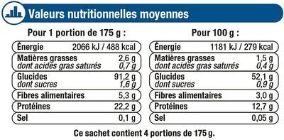 Tagliatelles aux oeufs frais - Valori nutrizionali - fr