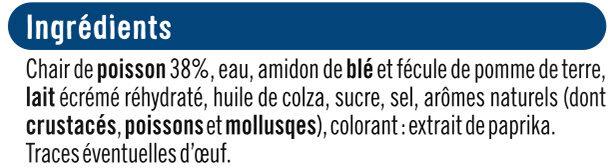 Miettes à base de chair de poisson saveur crabe - Ingrediënten - fr