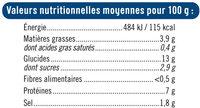 Miettes à base de chair de poisson saveur crabe - Voedingswaarden - fr