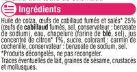 Tarama aux ufs de cabillaud - Ingrediënten - fr