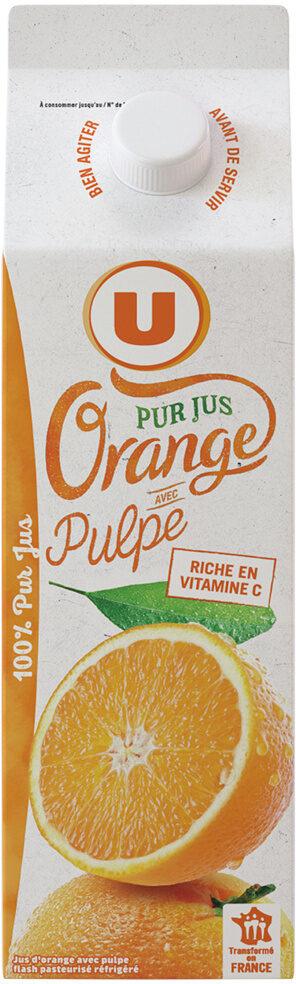 Pur jus d'oranges pressées avec pulpe réfrigéré - Prodotto - fr