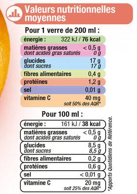 Pur jus réfrigéré pamplemousse rose - Informations nutritionnelles - fr