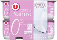 Yaourt nature 0%MG - Produit - fr