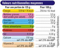 Yaourts Brassés Nature - Informations nutritionnelles - fr