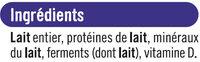 Yaourts Brassés Nature - Ingredients - fr