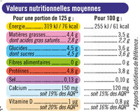 Yaourts Brassés Nature - Nutrition facts - fr