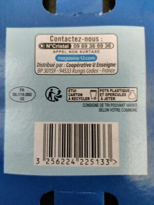 Yaourts Brassés Nature - Instruction de recyclage et/ou informations d'emballage - fr
