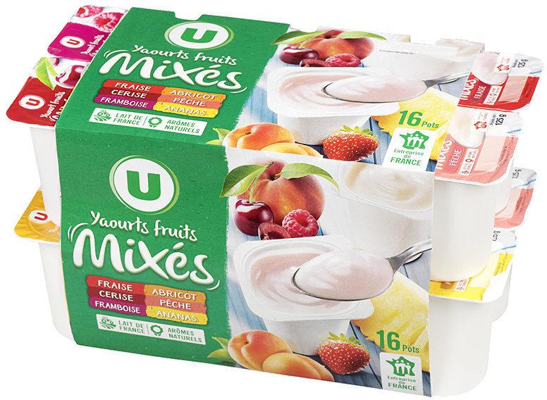 Yaourts brassés sucrés à la pulpe de fruits, - Produit