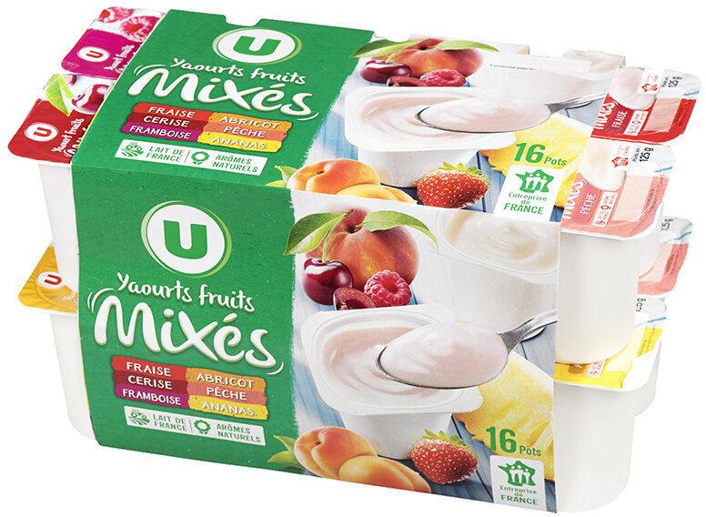 Yaourts brassés sucrés à la pulpe de fruits, - Product