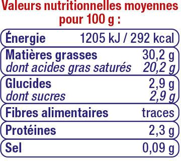 Crème fraîche épaisse 30%mg - Nutrition facts - fr