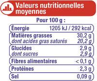Crème fraîche épaisse 30%MG - Voedingswaarden