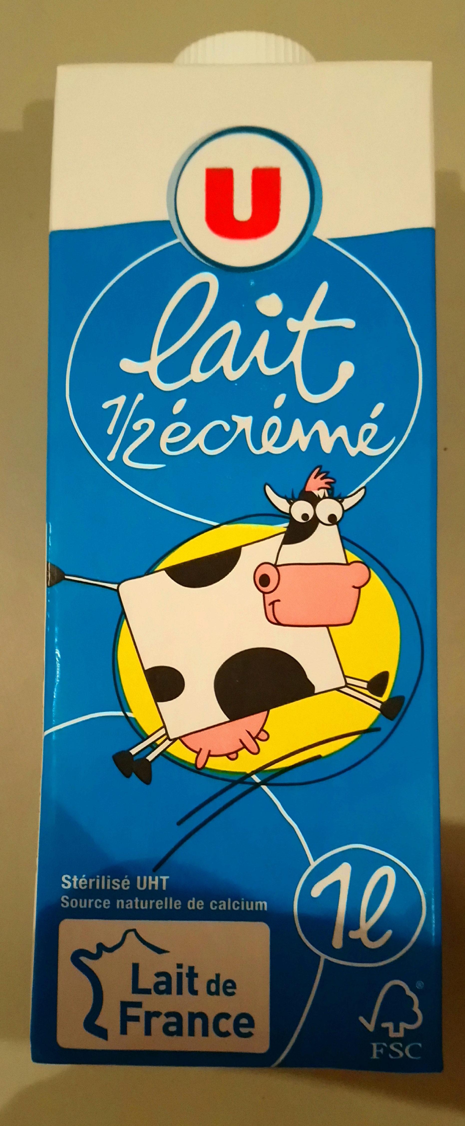 Lait 1/2 écrémé - Produit - fr