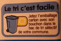 Lait 1/2 écrémé - Instruction de recyclage et/ou informations d'emballage - fr