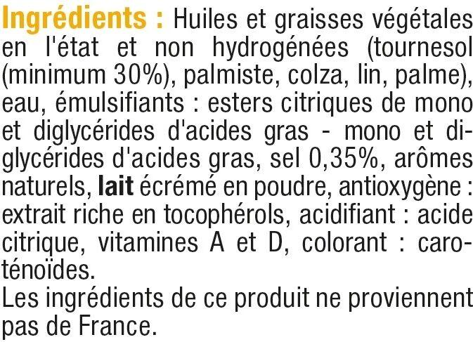 Margarine allégée de cuisson au tournesol 60% de MG - Ingrediënten - fr