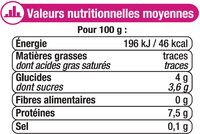 Fromage frais 0%MG - Informations nutritionnelles - fr