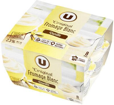 Fromage frais sucré lait pasteurisé saveur vanille 2,5%MG - Product