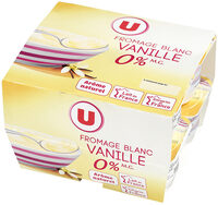 Fromage frais saveur vanille 0%MG - Product