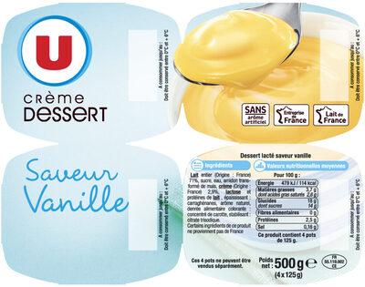 Crème dessert Saveur Vanille - Produit