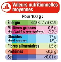 Dessert de Fruits Pomme Fraise - Nutrition facts